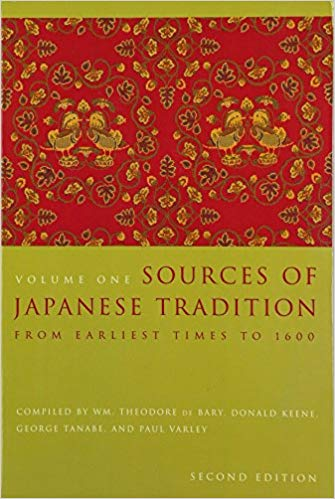 1) Sources Of Japanese Tradition, Volume One: