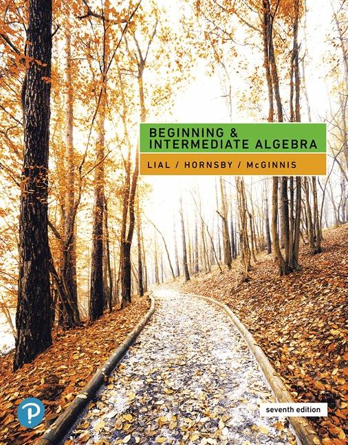 John Hornsby – Beginning And Intermediate Algebra 7edition 2020