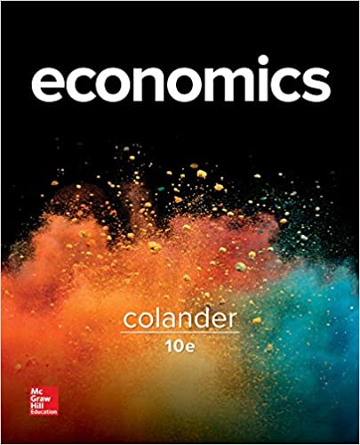 Economics 10th Edition By David Colander